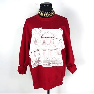 Vintage Jerzees Oversized Home Pullover Sweater L